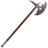 The axe was gifted to Monroe, by Silvya, Goddess of the hunt. In her name he removes the monsters of this world.