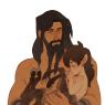 with baby Gita