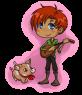 Hrafn and his pet boar taur as chibis! Done by Foxy! Thanks Fox!
