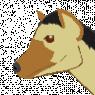 An avatar of Kikuto's head drawn as a more real looking hyena with Kikuto's coloring.